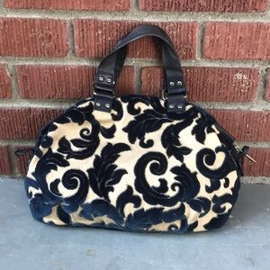 Cynthia Rowley Velvet/Leather Bag